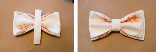 DIY Bow Tie: Step 9 - 10