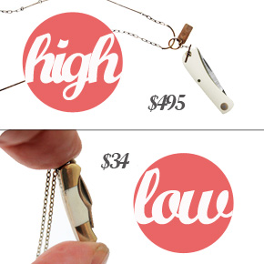 High/Low: Pocket Knife Necklace